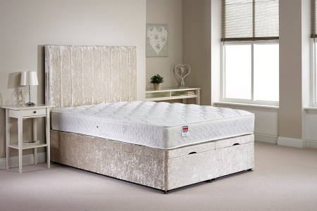Small Single Barnshaw Foot End Opening Ottoman Bed
