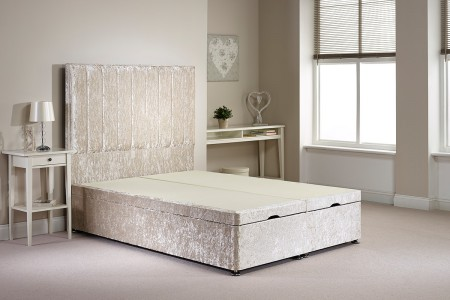 Small Double Barnshaw Foot End Opening Ottoman Bed