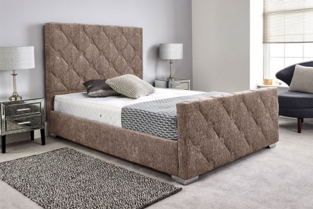 Rose Hand Made Quilted Bed Frame