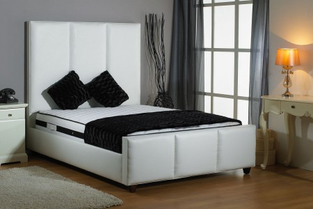 Shaw Faux Leather Bed Frame