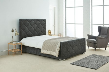 Daisy Chenille Fabric Upholstered Bed frame