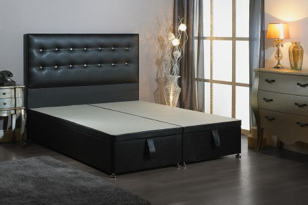 Small Single Bentley Foot End Opening Ottoman Bed