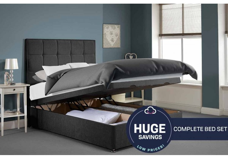 Single Appian Foot End Opening Ottoman Bed Full Bed Set