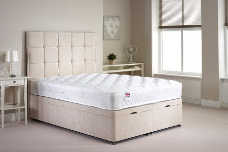 Small Double Appian Foot End Opening Ottoman Bed Full Bed Set