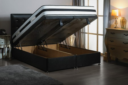 Double Bentley Foot End Opening Ottoman Bed