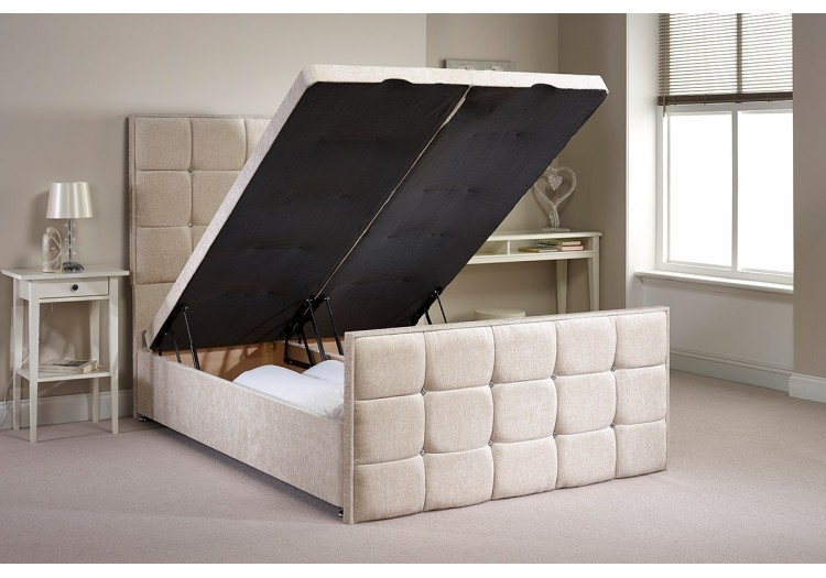 Small Single Aston Foot End Opening Ottoman Bed
