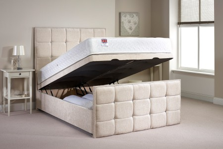 Small Double Aston Foot End Opening Ottoman Bed