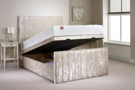 Small Double Peacehaven Foot End Opening Ottoman Bed