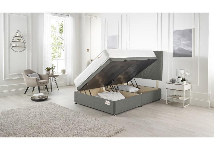 Next Divan ottoman bed Platinum