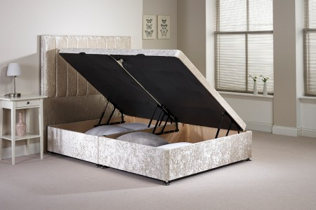 Small Single Harvard Side Opening Ottoman Bed