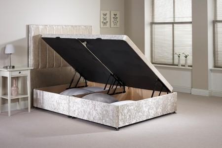 Single Harvard Side Opening Ottoman Bed  No mattress