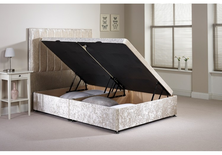 Single Harvard Side Opening Ottoman Bed