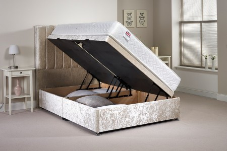 Small Double Harvard Side Opening Ottoman Bed