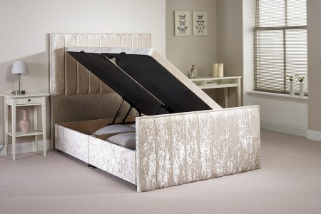 Small Single Buxley Side Opening Ottoman Bed