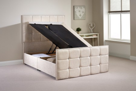 Small Single Pembrook Side Opening Ottoman Bed