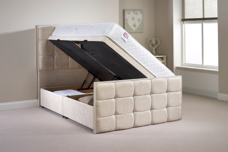 Single Pembrook Side Opening Ottoman Bed