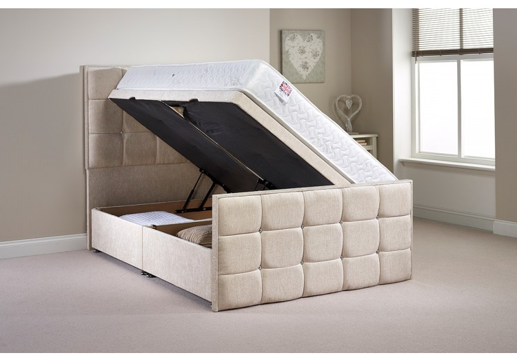 Double Pembrook Side Opening Ottoman Bed