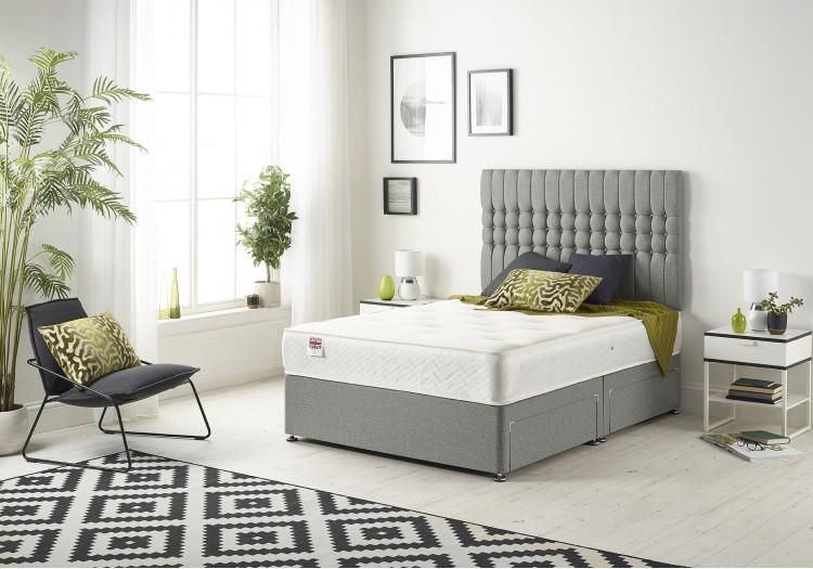 Galaxy Divan Bed with Bonnell Sprung Tufted Mattress