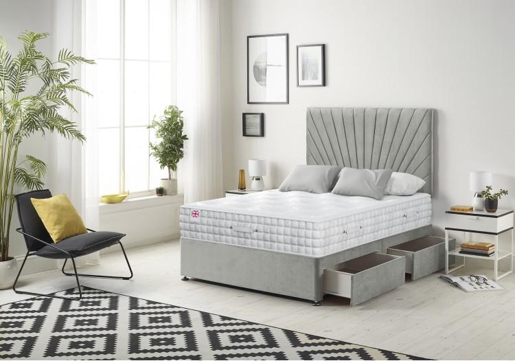 Platinum Divan Bed with 2500 Silk Mattress