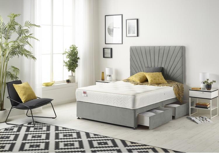 Platinum Divan Bed with Memory Mattress