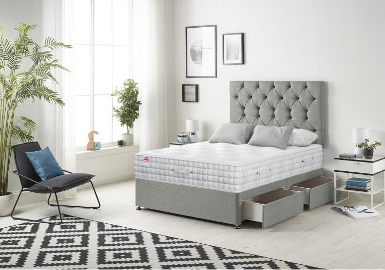 Premium Divan Bed with 2500 Silk Mattress