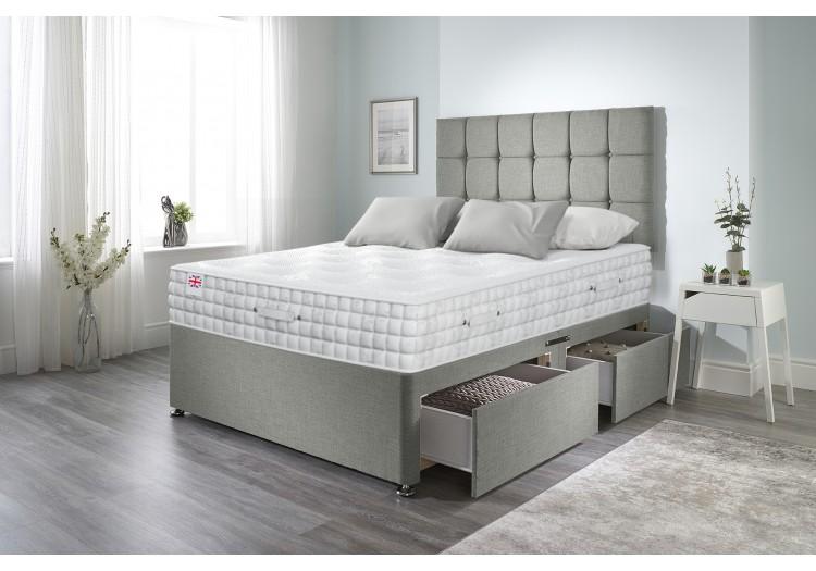 Olive Divan Bed with 2500 Silk Mattress