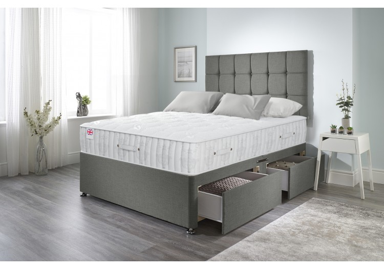Olive Divan Bed with Sovereign Mattress