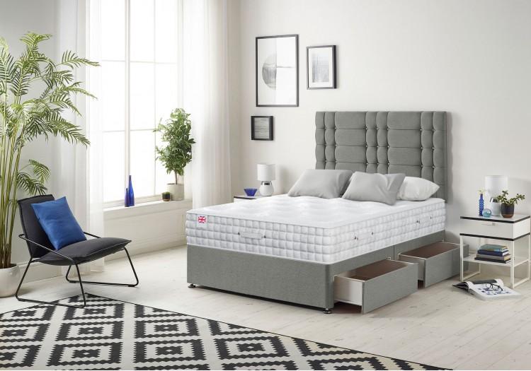 Bliss Divan Bed with 2500 Pocket Natural Filling Mattress