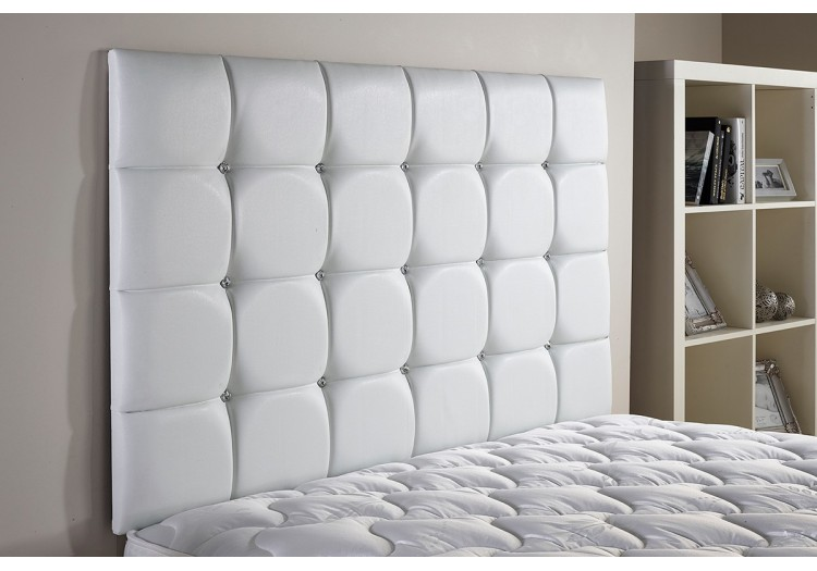 54in Floor Standing Crystal Headboard