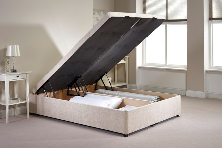 Small Single Richworth Foot End Opening Ottoman Bed