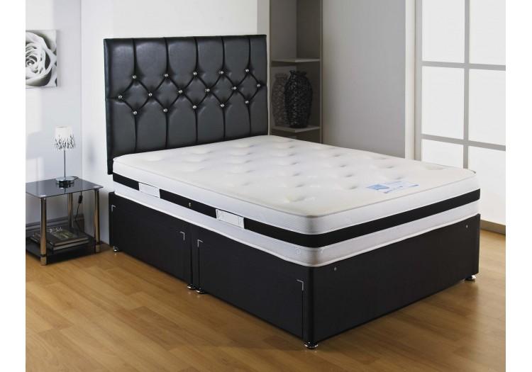 Black Airflow Memory Foam Divan Bed Set