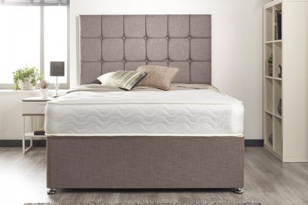 Linen Fabric Divan Bed Set