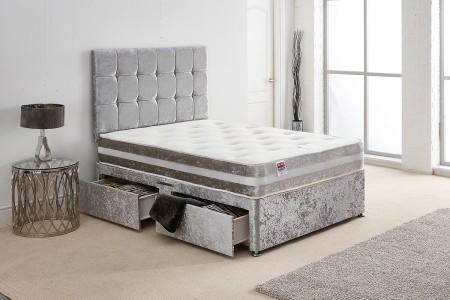 Crush Velvet Divan Bed
