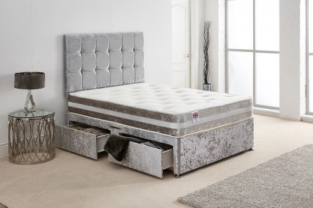 Crush Velvet Divan Bed