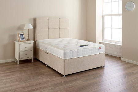 HP Cool Soft Chenille Fabric Divan Bed