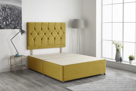 Ziggy Plush Fabric Divan Bed Base Only