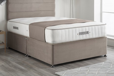 Carlton Plush Velvet Divan Bed 2