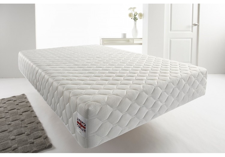 25cm Deep White Quilted Memory Foam Vacuum Roll Pack Mattress