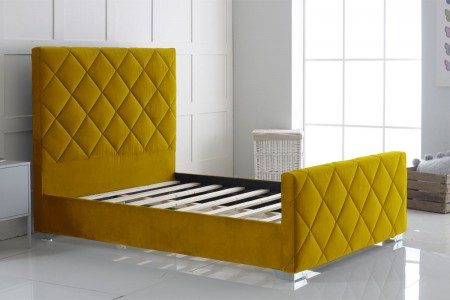 Hand Crafted Carnation Upholstery Bed Frame