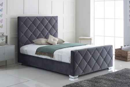 Florence Plush Fabric Bed Frame