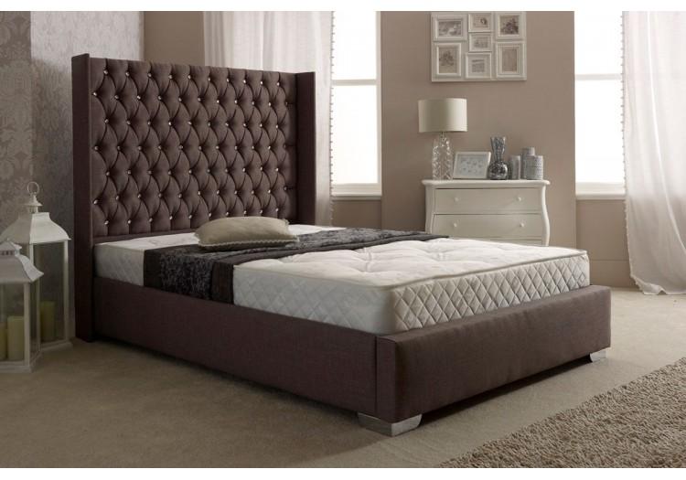 Wing Upholstered Bed Frame