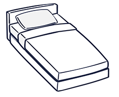single bed illustration