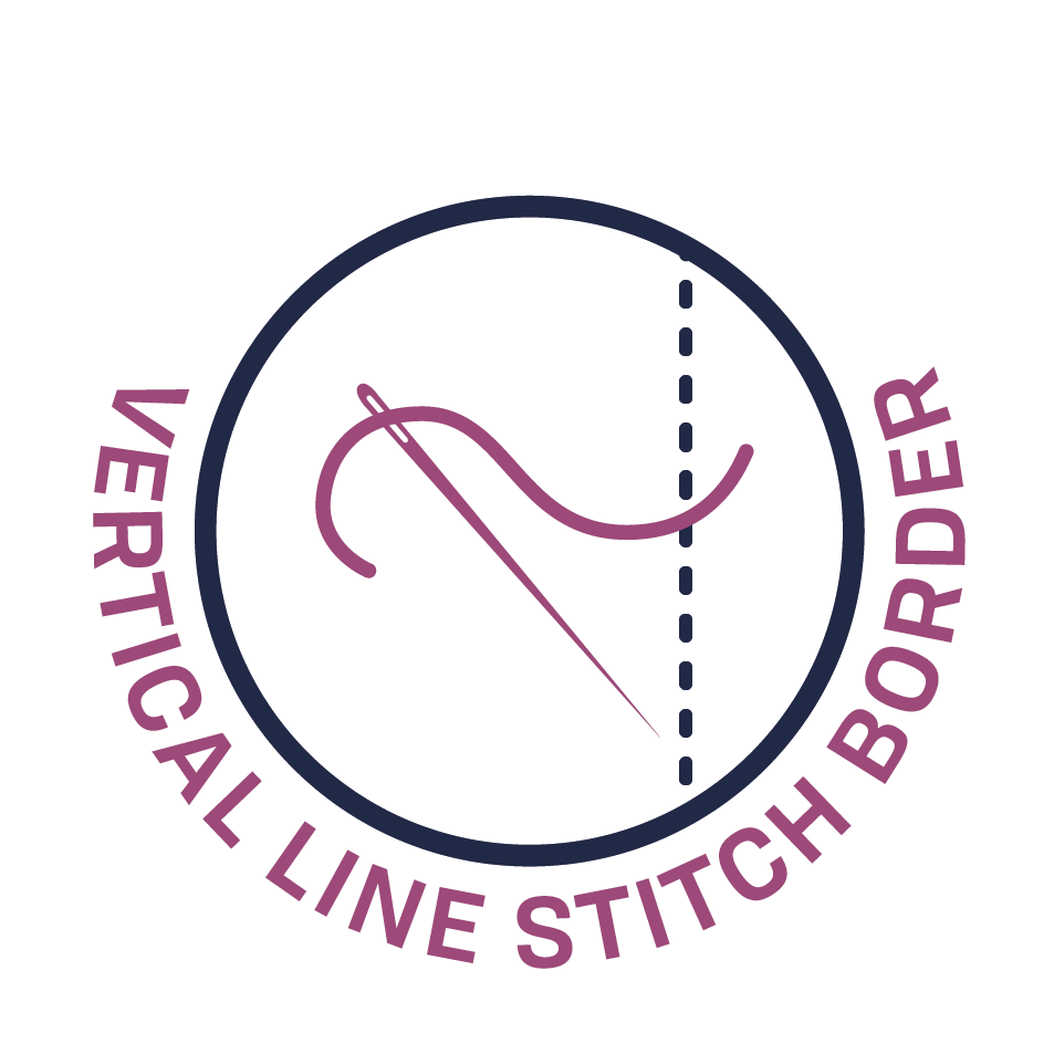 Vertical Line Stitch Border